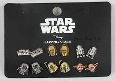 New Disney Star Wars Characters Earring Set Stud Post Insertion 6 Pair