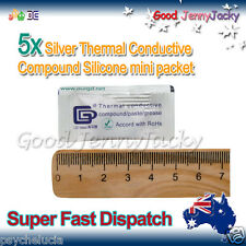 5x Silver Thermal Conductive Compound Silicone Grease Paste Mini Pack - CPU GPU