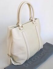 RRP$695 New OROTON Journey Shade Tote Handbag  Bag Leather Seashell Beige