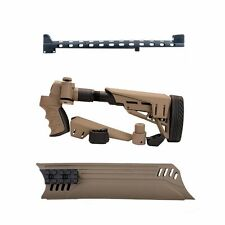 ATI Mossberg 500 Shotgun FDE TacLite 6 Pos Side Fold Stock-Forend - Heat Shield
