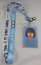 Bob's Burgers Tina Belcher My Spirit Animal Lanyard ID Card Holder Glasses Charm