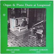 ORGAN & PIANO DUETS AT LONGWOOD: Brian Jones, Andrew Gordon PRIVATE Classical LP