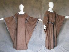 Brown Medieval Bell Sleeve Dress Gown SCA Game of Thrones Cosplay LARP 2X 3X