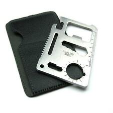 Hot! 11 in 1 Mini Emergency Survival Tool Credit Card Knife for Camping Fishing