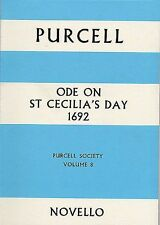 Purcell Society Ode On St Cecilias Day 1692 Full Score Vocal Music Book Vol 8
