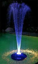 600GPH FLOATING Pond Pool koi WATER FOUNTAIN Aerator &  COLOR LITE /2 N0ZZLES!!