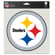 """PITTSBURGH STEELERS LOGO 8""""X8"""" COLOR DIE CUT DECAL BRAND NEW WINCRAFT"""