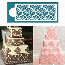 Tool Cupcake Damask Lace Flower Border Side Decor Mould Cake Stencil Fondant