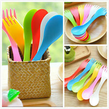 Cute Spork Lunchbox Utensil Camping Hiking Outdoor Spoon Fork Combo Backpacking
