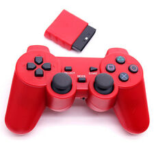 PS2 Dual Shock Wireless Red Game Controller Convertible Computer 2.4G Game