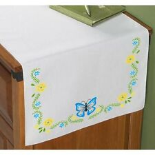 Butterfly & Buttercups   - Stamped Embroidery -  TABLE RUNNER/Scarf