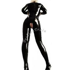 Sexy Women Lady Open Bust Bodysuit Crotchless PVC Catsuit Fetish Gay Costume XXL