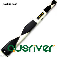120cm 3/4 Billiards Snooker Cue Case Synthetic Leather Velvet Lining Black&White
