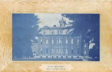Ohio Postcard c1910 WELLINGTON High School Wood Frame Border