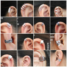 Hot 16 pcs Band Cartilage Wrap ear cuff No piercing earrings set