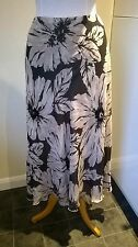 BNWT Marks & Spencer Autograph brown/beige sequin floral pure silk skirt UK 16