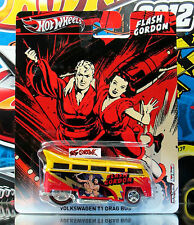 Hot Wheels 2013 POP CULTURE - FLASH GORDON Volkswagen T1 Drag Bus YELLOW+RED,NEW