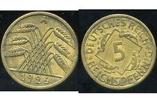 ALLEMAGNE 5  reichspfennig  1926 A