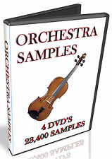 ORCHESTRA -  MUSIC SAMPLES -  WAV COLLECTION  - 14.4GB - 4x DVDS