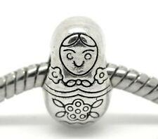 Silver Russian Doll Charms Bead For Charm Bracelets
