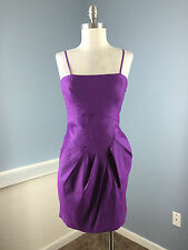 NEW Max and Cleo Purple Sheath BCBG Cocktail Party Dress 6 stretch strapless