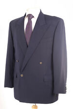 YSL PLAIN NAVY MEN'S BLAZER JACKET 40R DRY-CLEANED