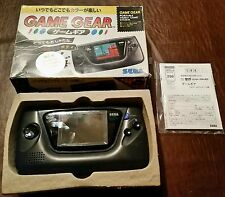 SEGA GAME GEAR IMPORT HGG-3210 PORTABLE SYSTEM BOX COMPLETE