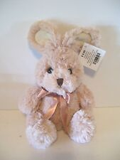 SOFT TAN PLUSH EASTER BUNNY RABBIT BABY GIFT DECORATION SPRING