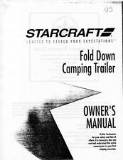 1995 Starcraft Folding Camping Popup Trailer Owners Manual