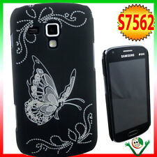 Custodia back cover BUTTERFLY NERA pr Samsung Galaxy S Duos 2 S7582 rigida