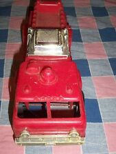 "Vintage Plastic Gay Toys Fire Truck Engine 9 1/4"" Surface Marks Good Used Condit"