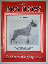 Vintage THE DOGS NEWS magazine. February 1942. The Boxer cover