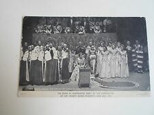 Coronation Day Postcard The Queen Takes Her Seat In The Chair of State 1953