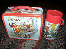 Vintage Holly Hobbie Metal Lunch Box & Thermos American Greeting Aladdin