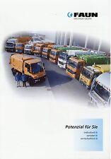 Prospekt Faun 2003 Müllfahrzeuge Müllsammelfahrzeuge Kommunalfahrzeuge LKWs