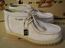 New Buffalino Men Leather Boots Size 7.5 Color Sand high Top