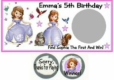 10 Sophia The First 1st Birthday Party Scratch Off Game Card Lottery Tickets