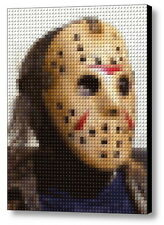 Jason Voorhees Friday The 13th Lego Brick Framed Mosaic Limited Editon Art Print