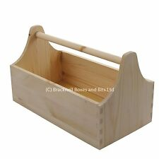 Wooden tool bucket / tool carrier / tool box / tool trug / wood BPU101