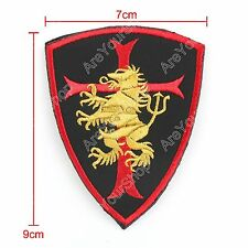 Badge Bordada Woodland Multicam Seal Team Lion Crusader Shield Gold Hook Patch