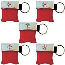 CPR Mask Key Chain Kit (5-pack) - One-way Valve and Face Mask to Help Safely