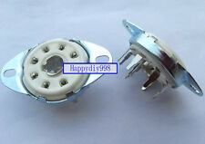 8-pin Vacuum Tube silver plated ceramics Sockets for5B254 4P1S BL21 C3G GZC8-8-Y