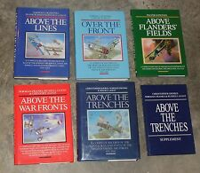 6 Book lot, WWI Fighter Aces by Christopher Shores, Norman Franks, Russell Guest