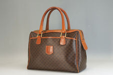 Authentic CELINE Boston Bag 30cm Macadam Brown Free Shipping 844f05