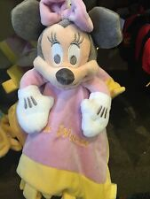 disney parks infant baby mini minnie with blanket plush new with tags