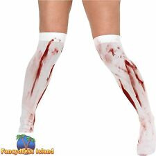 HALLOWEEN BLOOD STAINED STOCKINGS - UK 10-14 -  womens ladies clothing accessory