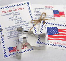 FLAG ~ DEM DONKEY ~ REP ELEPHANT tin cookie cutter TRIO ~ MADE IN THE USA (NEW)