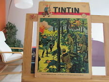 JOURNAL DE TINTIN N°25 4EME ANNEE BE/TBE 1949 COUVERTURE DECHIREE