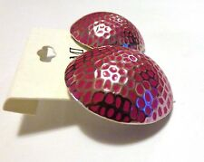 ROUND EARRINGS ASSORTED COLOR EARRINGS TURTLE SHELL DESIGN 1.5 INCH PIERCED