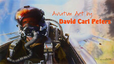 "F-16 ""Viper Pilot""... Aviation Art by David Carl Peters"